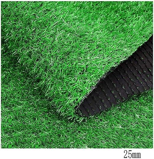 WJ Césped Artificial Hierba Hierba Simulación Césped Recinto Plástico Jardín de Infancia Césped Artificial Cartelera Césped Decorativo (Color : T 1cm, Size : 2 * 5m): Amazon.es: Jardín