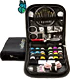 SEWING KIT for Travel and Sewing Emergencies, Great for Beginners Useful at Home and Office PREMIUM SEWING SUPPLIES for Mending & Sewing Needs (Pack of 1, Black)
