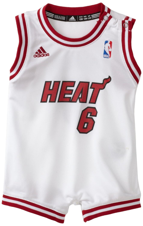 fed3766cecf Amazon.com  NBA Infant Miami Heat Lebron James Home Onesie Jersey -  R22Uqeez (White