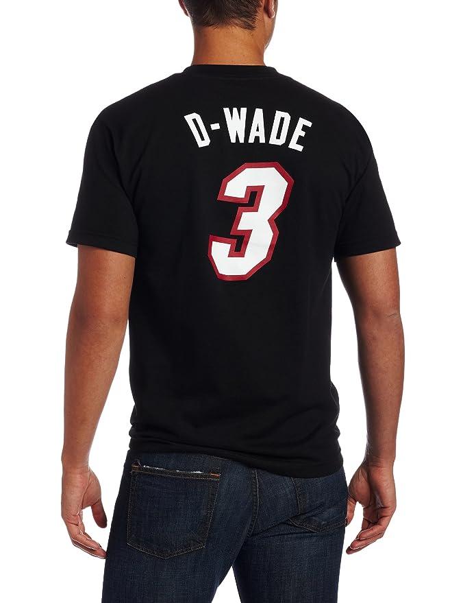Adidas Miami Heat de la NBA Dwyane Wade Negro Apodo Camiseta, Hombre, Miami Heat: Amazon.es: Deportes y aire libre