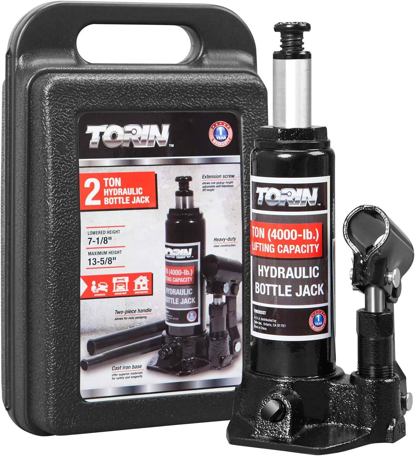 Torin Hydraulic Bottle Jack with Carrying Case
