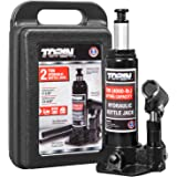 Torin TAM90203S Hydraulic Welded Bottle Jack with Blow Mold Carrying Storage Case, 2 Ton (4,000 lb) Capacity, Black