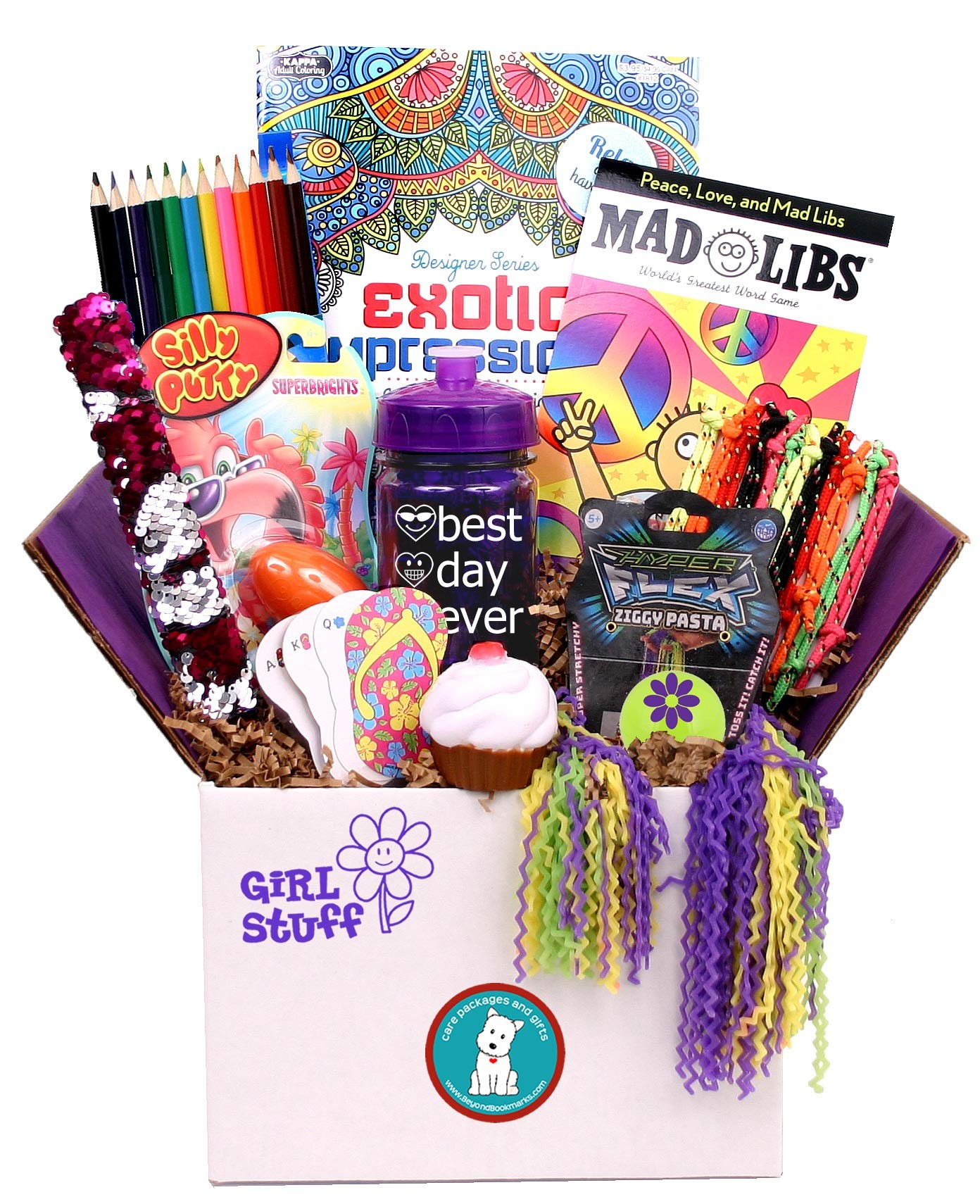 Beyond Bookmarks Girl Stuff - Summer Camp Care Package or Birthday Gift for Girls and Tweens