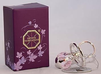 Amazon.com: Rosa Cristales de Swarovski Plata Plated Dummy ...