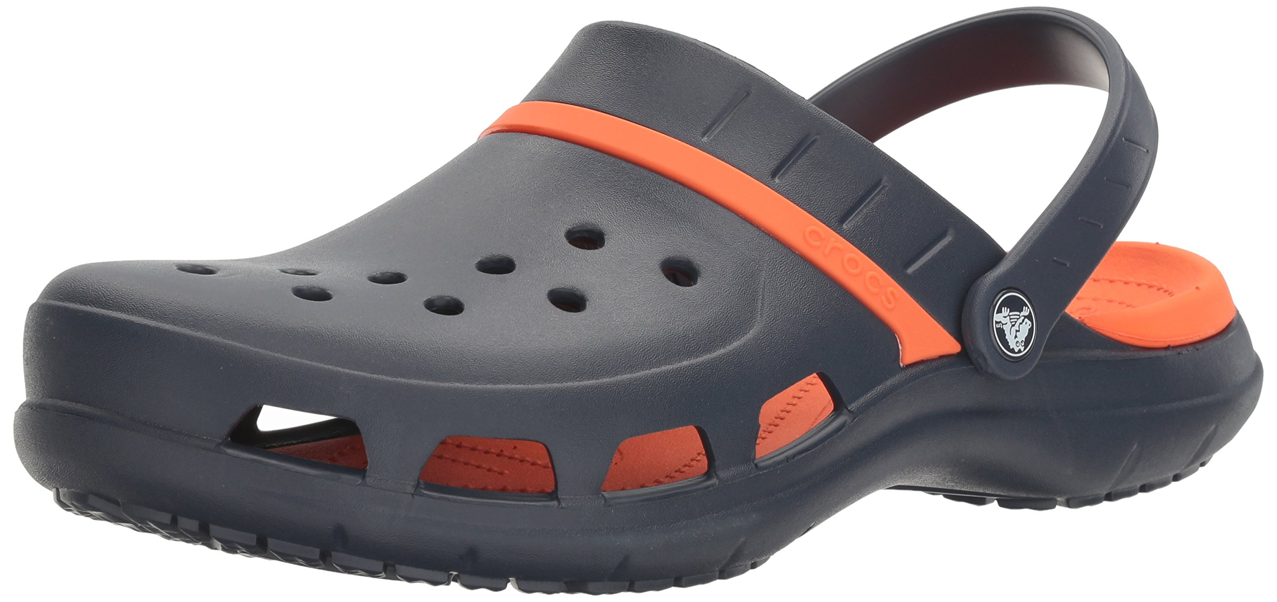 Crocs Unisex Modi Sport Clog Mule, Navy/Tangerine, 6 US Men / 8 US Women by Crocs