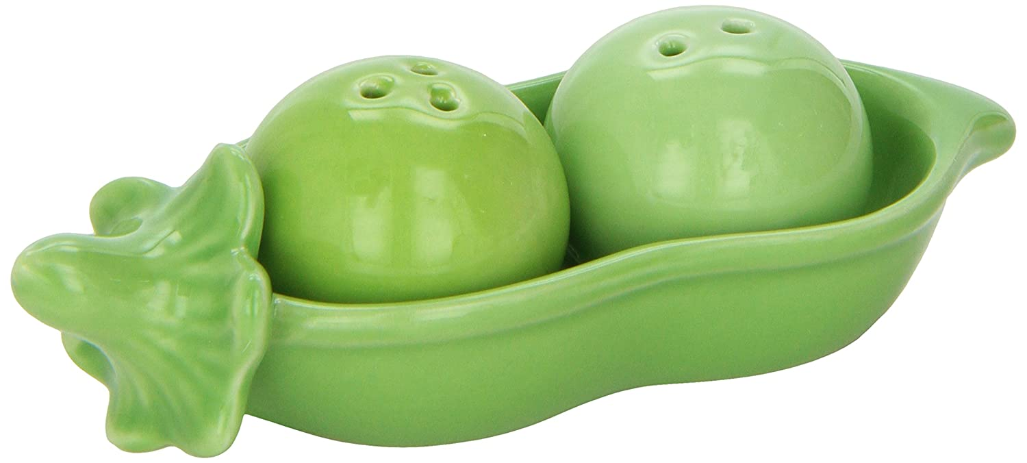 Kate Aspen Two Peas In A Pod Ceramic Salt And Pepper Shakers In Ivy Print  Gift Box: Amazon.ca: Baby