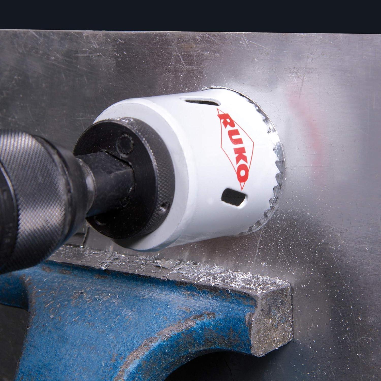 Premiun Ruko 126318 Juego de 15 coronas perforadoras HSS Co 8 Premium