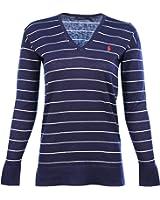 Polo Ralph Lauren Women's Striped V-Neck Sweater