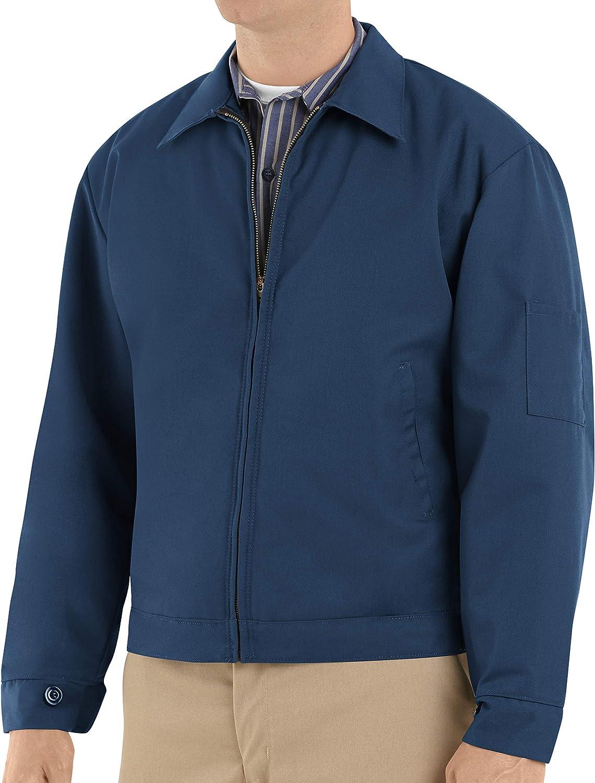 Red Kap Men's Slash Pocket Jacket: Clothing