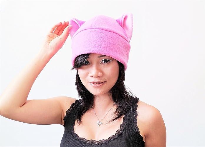 ab37e5f0 Pink pussy hat, Pussy Hat, Pussy cat hat, Pink Pussy Hats, Pussy Beanie Hat,  Cat ear Hat, Pink Cat Ear Hat Toque Beanie Feline Kitty Kitten Fleece Anime  ...