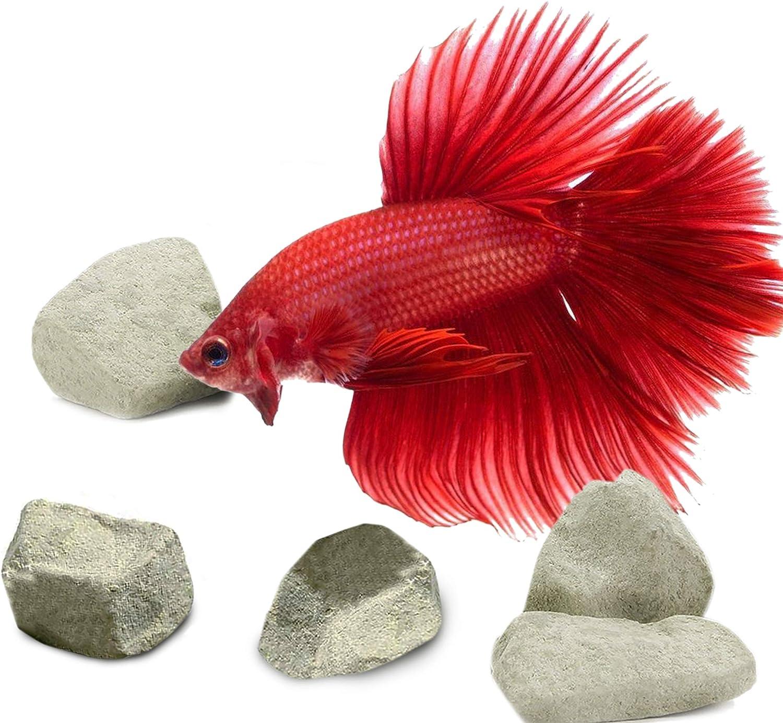 SunGrow Aquarium Rocks and Powder, Enhances Shrimp's Color, Helps Shedding, Supplemental Food for Shrimps, Crayfish & Snails, Tasty Snack, 1.7 oz