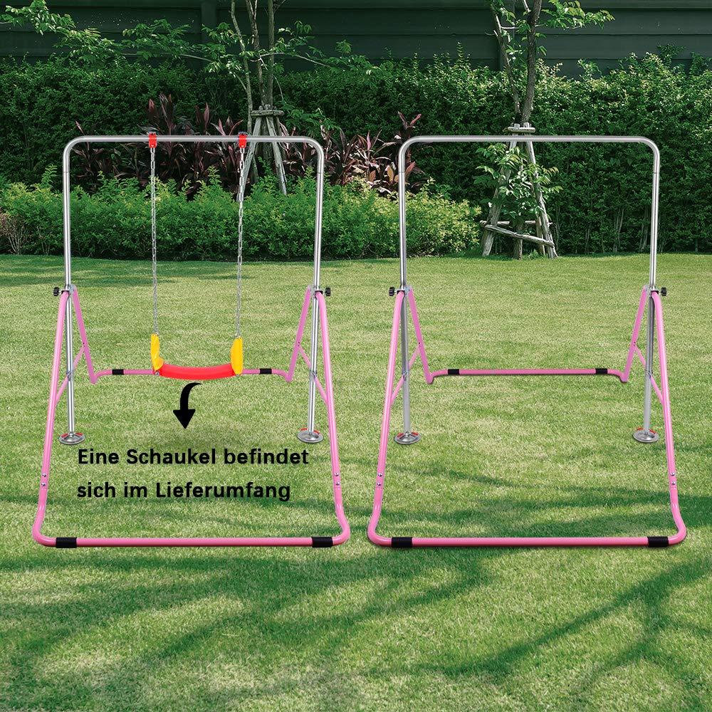 Gymnastik-Trainingsstangen 4-Fach h/öhenverstellbar OT128 ONETWOFIT Kinder klappbare Kletterstangen mit Schaukel f/ür die Nutzung zu Hause