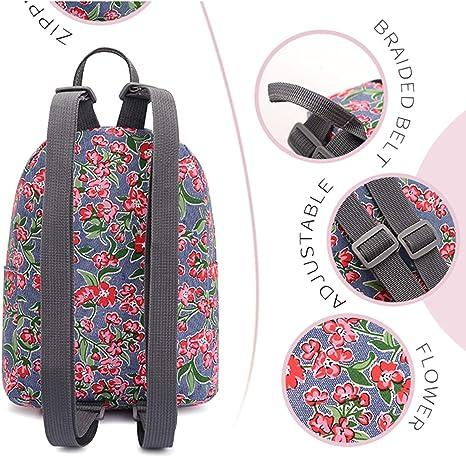 Personalization BTS Mini Backpack Denim Red Flower All Purpose Usage Bag 10 Beautiful Fashion Design Casual Daypack