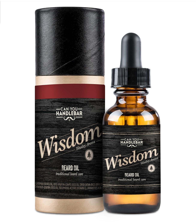 Wisdom Woodsy Beard Oil CanYouHandlebar Wisdom Bottle