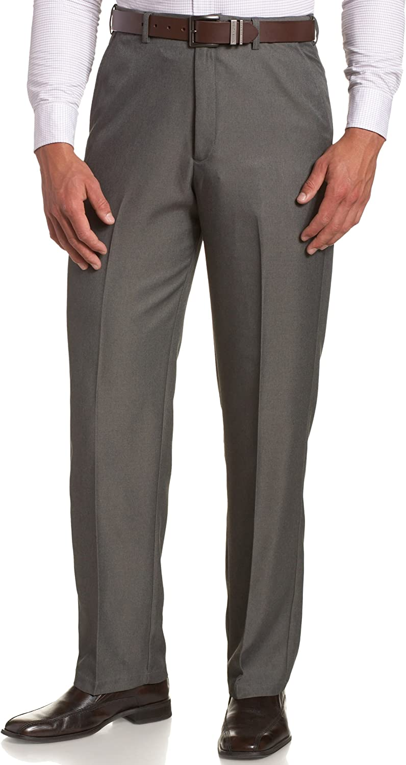 Haggar Men's Cool 18 Hidden Expandable-Waist Plain-Front Pant , Classic Fit