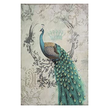 yosemite home decor yfsparrowr peacock poise ii animal portrait linen print artwork - Yosemite Home Decor