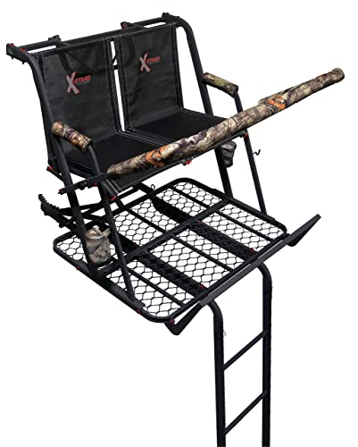 X-Stand Treestands The Jayhawk Ladderstand The Jayhawk 20' Two-Person Ladderstand Hunting Tree Stand, Black - 3