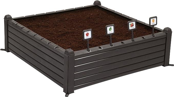 Keter - Mini huerto en casa Raised Garden Ben con marcadores ...