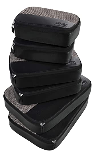 0ed8a6a859ae 6pc Lightweight Travel Packing Cubes - Compression Luggage Organizers Set  for Suitcase, Bag, Backpack, Luggage, Carry on (2 Small, 2 Medium, 2 Large,  ...