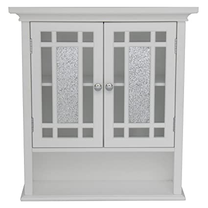 Elegant Home Fashions ELG 527 Whitney Wall Cabinet With 2 Doors And 1 Shelf