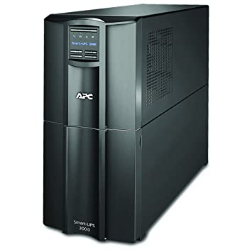 APC Smart-UPS SMT - SMT3000I - Uninterruptible Power Supply 3000VA (Line  Interactive, AVR, LCD Panel, 8 Outlets IEC-C13, Shutdown Software)