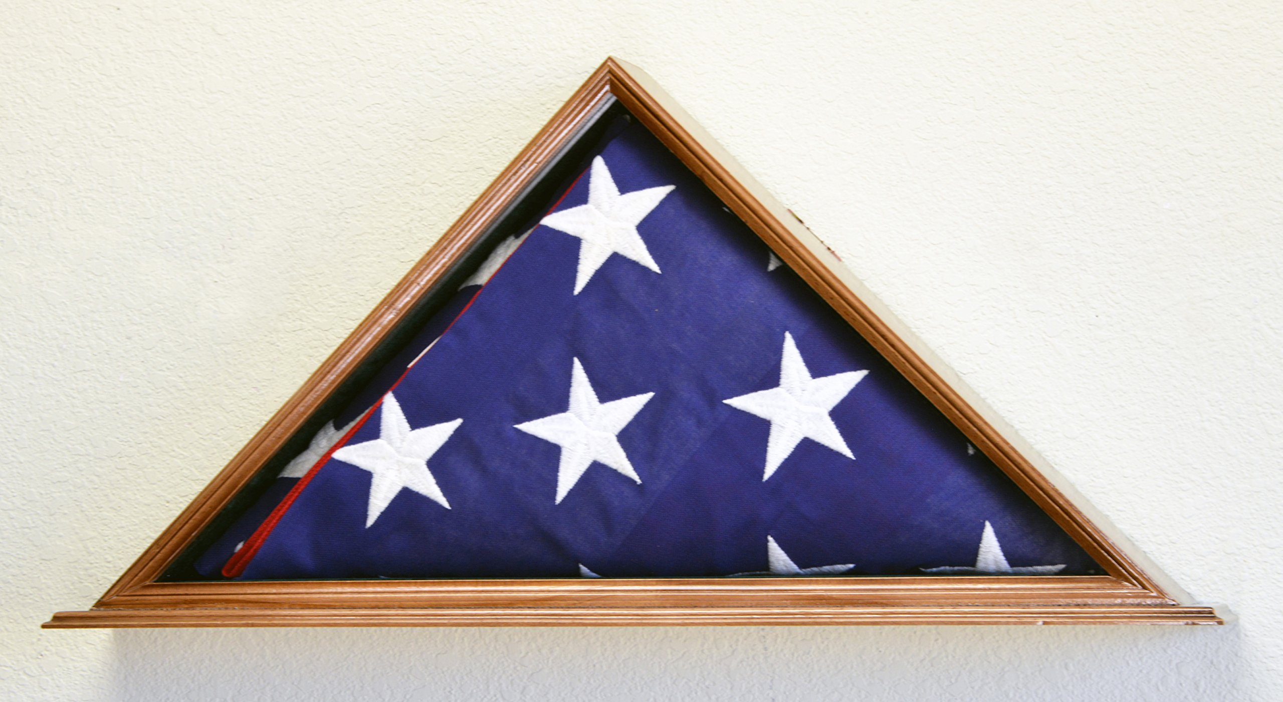 Flag Display Case for 5 x 9.5 Burial/Funeral/Casket/Veterans Military Flag Box Solid Wood USA (Walnut Finish) by sfDisplay.com,LLC. (Image #2)