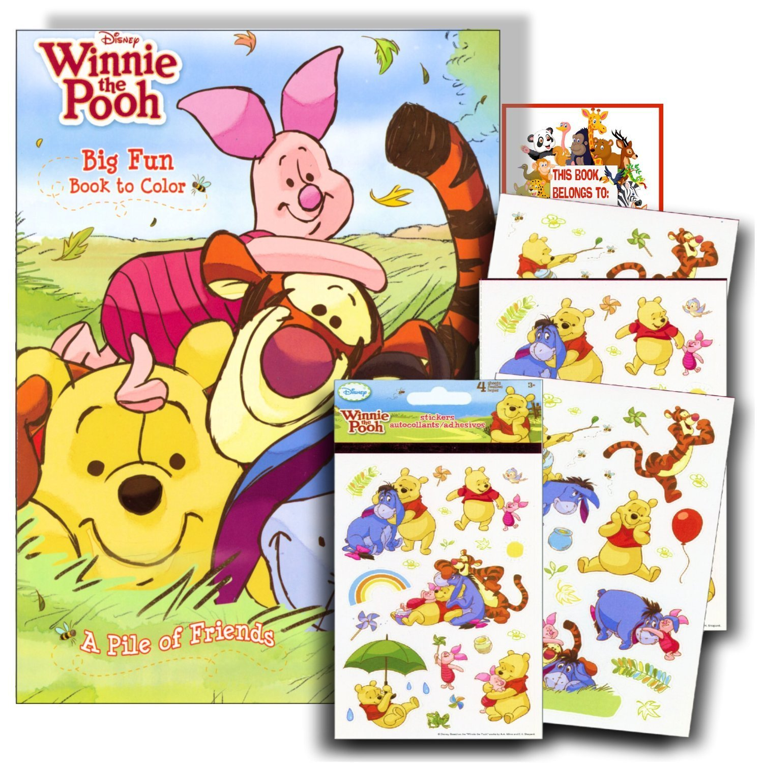 Amazon Com Disney Winnie The Pooh Learning Cards Set Of border=