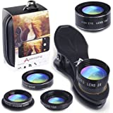 Phone Camera Lens 5 in 1 Kit with Travel Bag and Firmly Soft Clip, See Your World Different
