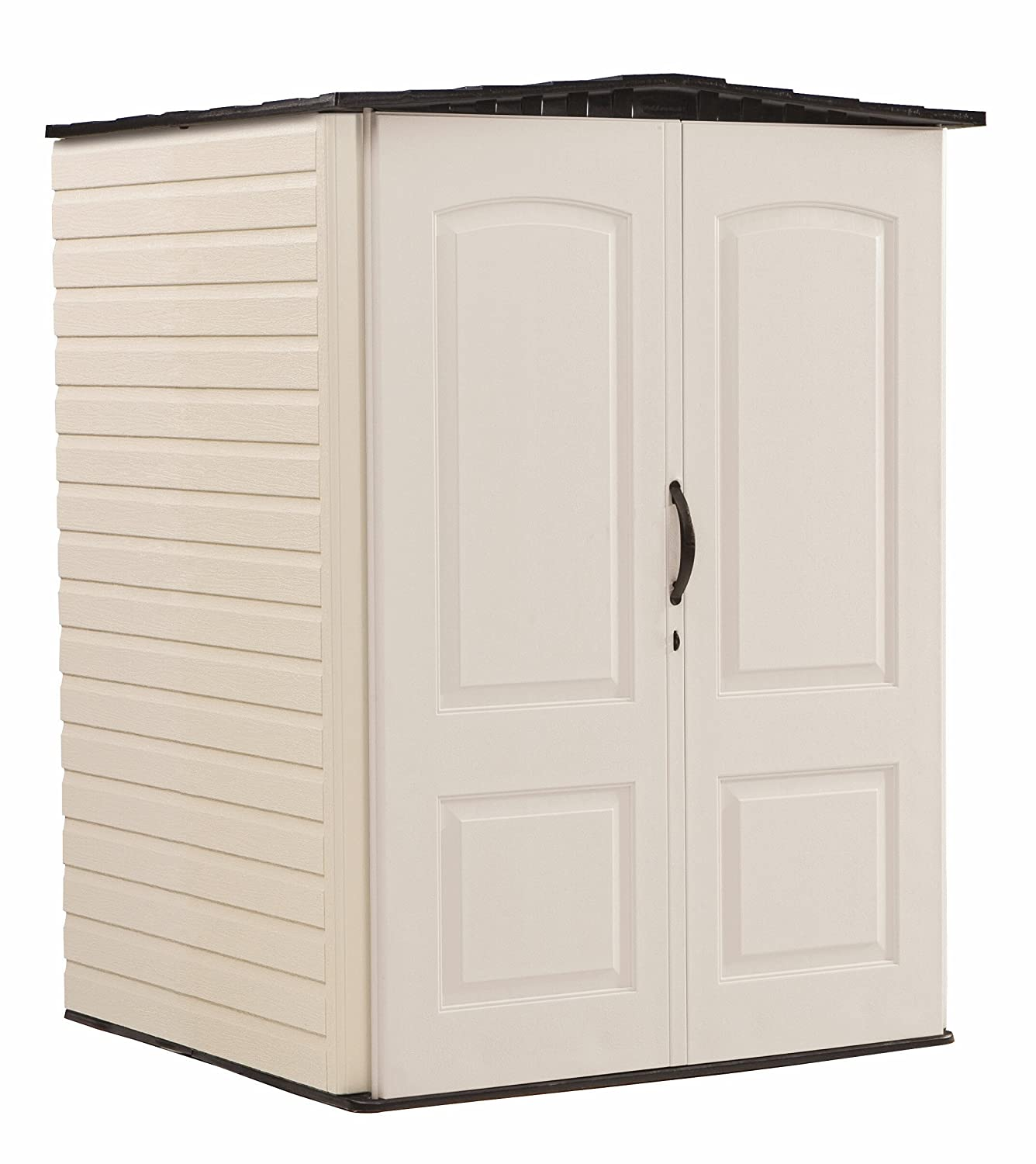 Amazon.com : Rubbermaid Roughneck Plastic Medium Vertical Storage Shed,  106 Cubic Feet, FG5L2000SDONX : Patio, Lawn U0026 Garden
