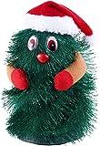 infactory Singender Tannenbaum: Singender & Tanzender Weihnachtsbaum Little Swinging Xmas Tree, 15cm (Tannebaum für Frohe Weihnachten)