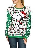Amazon.com: Snoopy Snowflake Pattern Adult Cream Ugly Christmas ...