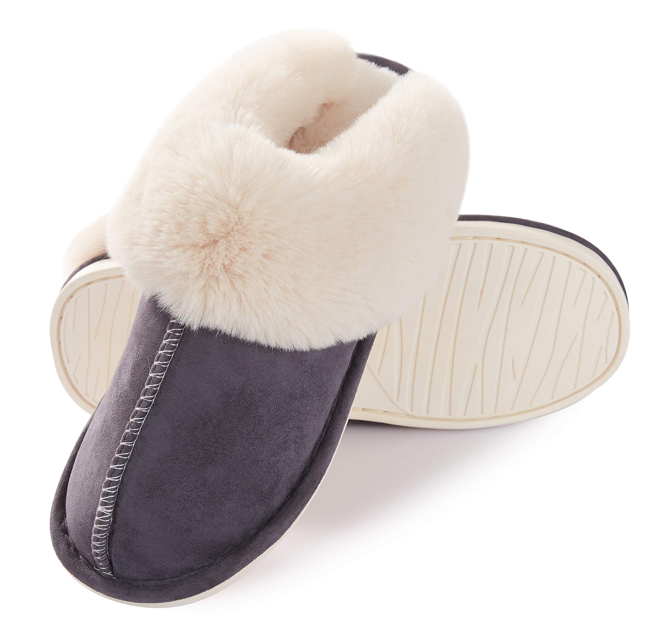 25a5e03d3730e ایگرد - خرید از آمازون | Womens Slippers Memory Foam Fluffy Warm Non ...