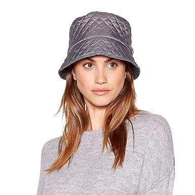 425e96a7c69 Principles Grey Quilted Faux Fur Trim Cossack Hat  Principles   Amazon.co.uk  Clothing