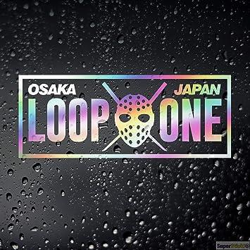SUPERSTICKI Loop One Osaka Oil Slick Folie Hologramm Auto Tuning Aufkleber ca 20cm Autoaufkleber