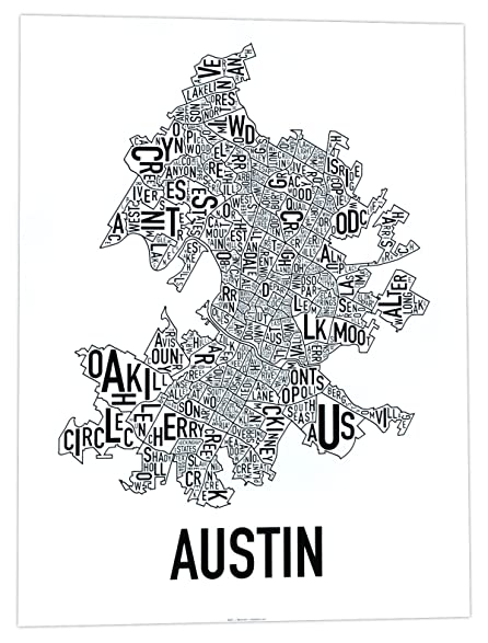 Austin neighborhoods map black