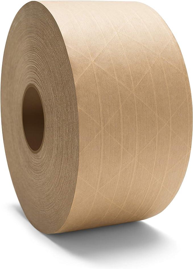 20 Rolls 72mm x 450/' White Kraft Paper Gummed Tape Economy Grade Packers Pride