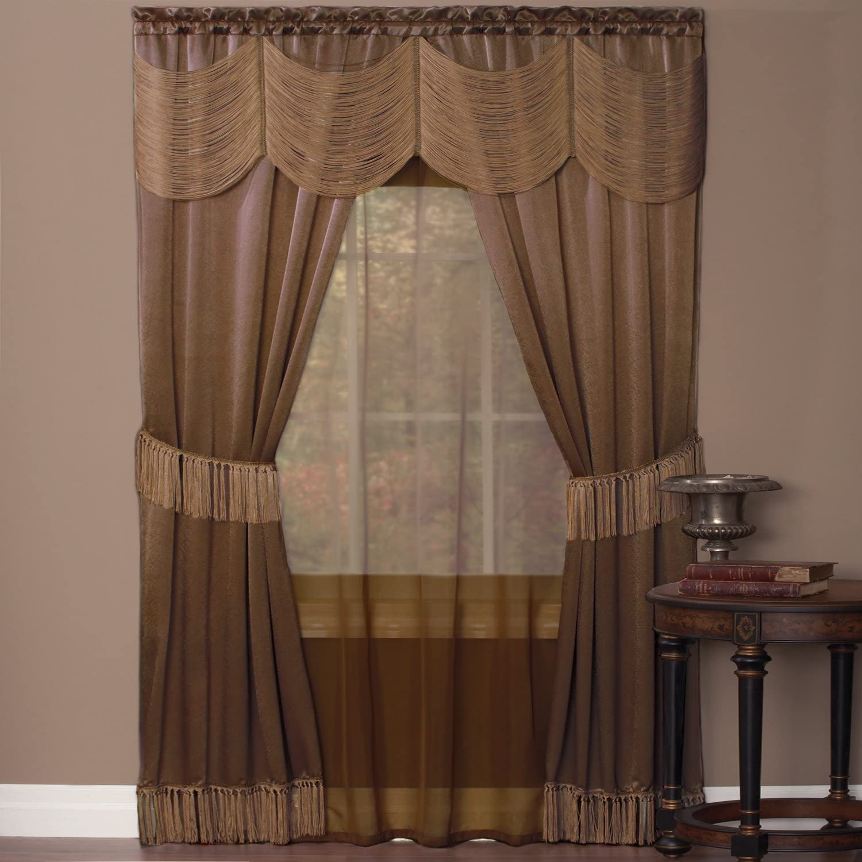 Achim Home Furnishings Ombre Window Panel, 50 84-Inch, Earth, 56