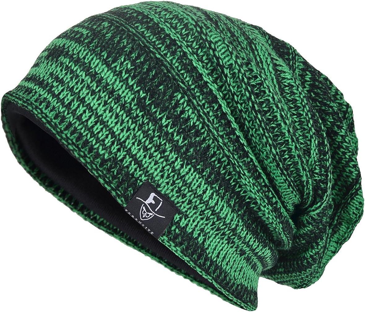 VECRY Men's Slouch Beanie Skull Cap Long Baggy Hip-Hop Winter Summer Hat