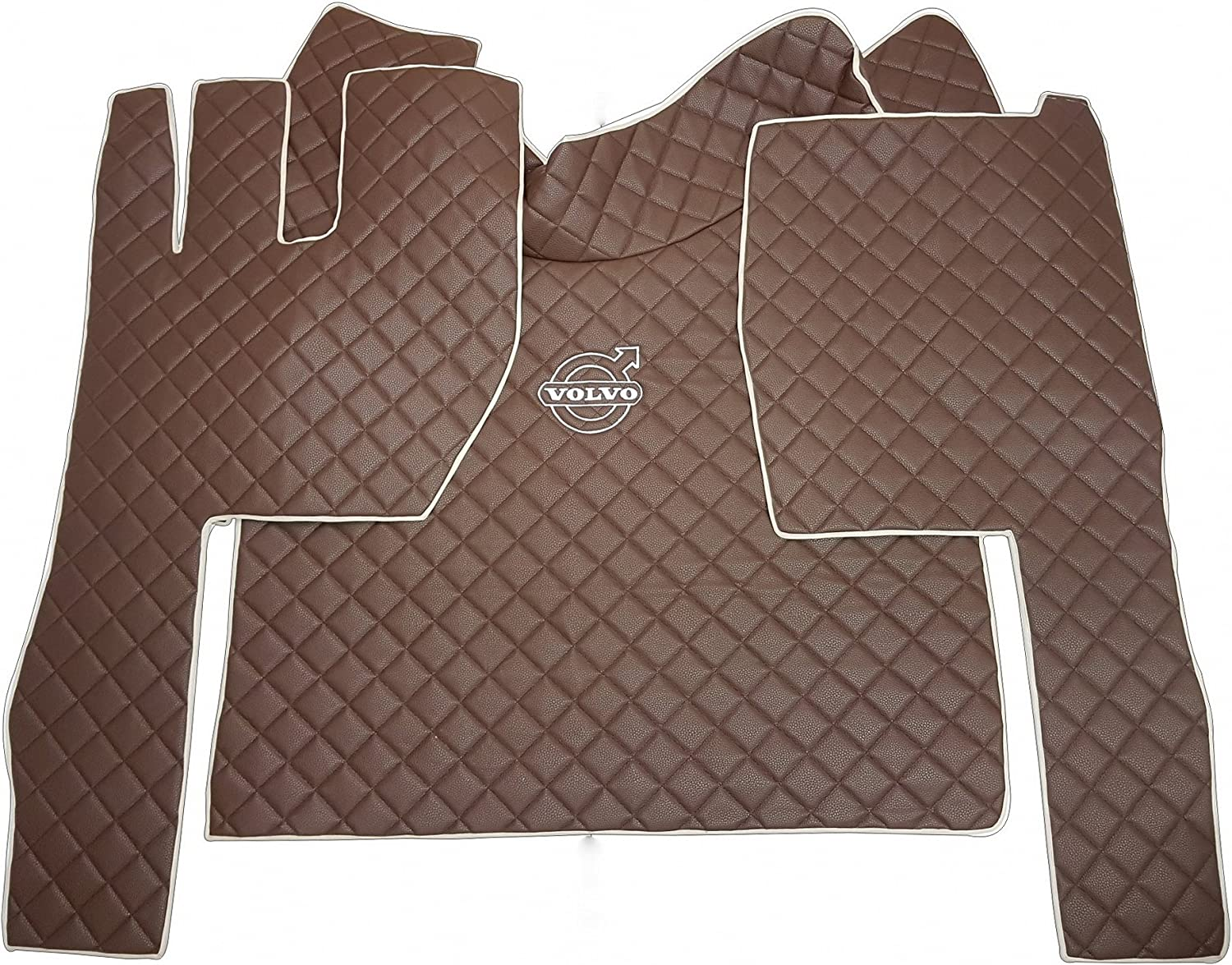 ~ ECO LEATHER ~ ENGINE COVER AND FLOOR MATS FOR VOLVO FH 2014