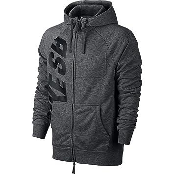 Nike SB Lt WT Everett Dri-Fit FZ HD Sudadera, Hombre, Gris (Charcoal Heathr/Dark Grey/Negro), XL: Amazon.es: Deportes y aire libre