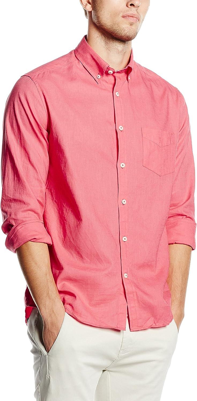 Cortefiel LISA LINO T-SOFT COLLAR - Camisa para hombre, color rosado, talla L: Amazon.es: Ropa y accesorios