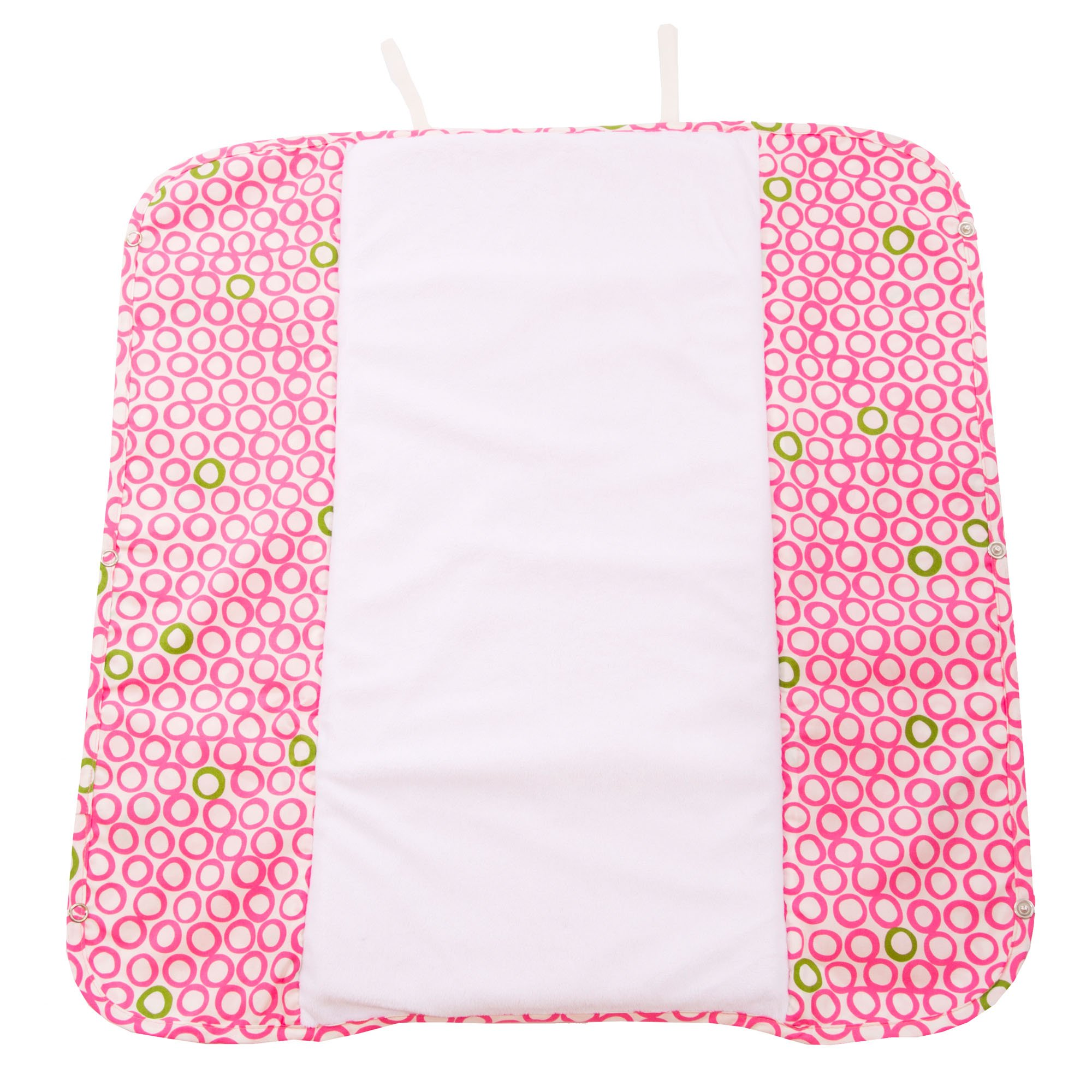 The Plush Pad Portable Changing Pad with Memory Foam, Bubbles in Juice Pattern by Ah Goo Baby