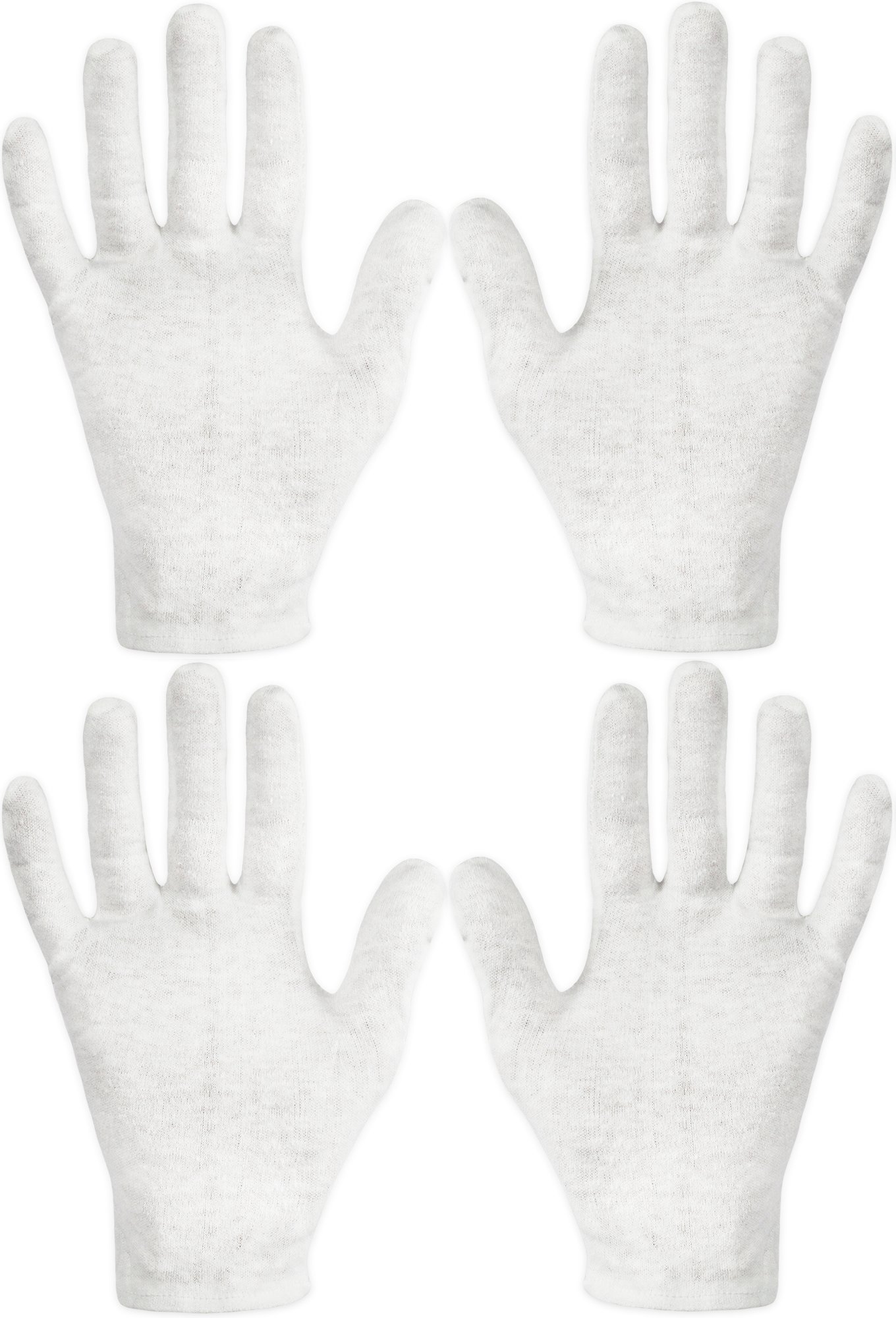 Eurow Cotton Cosmetic Moisturizing Therapeutic Gloves for Dry Hands and Beauty - White 2 Pack
