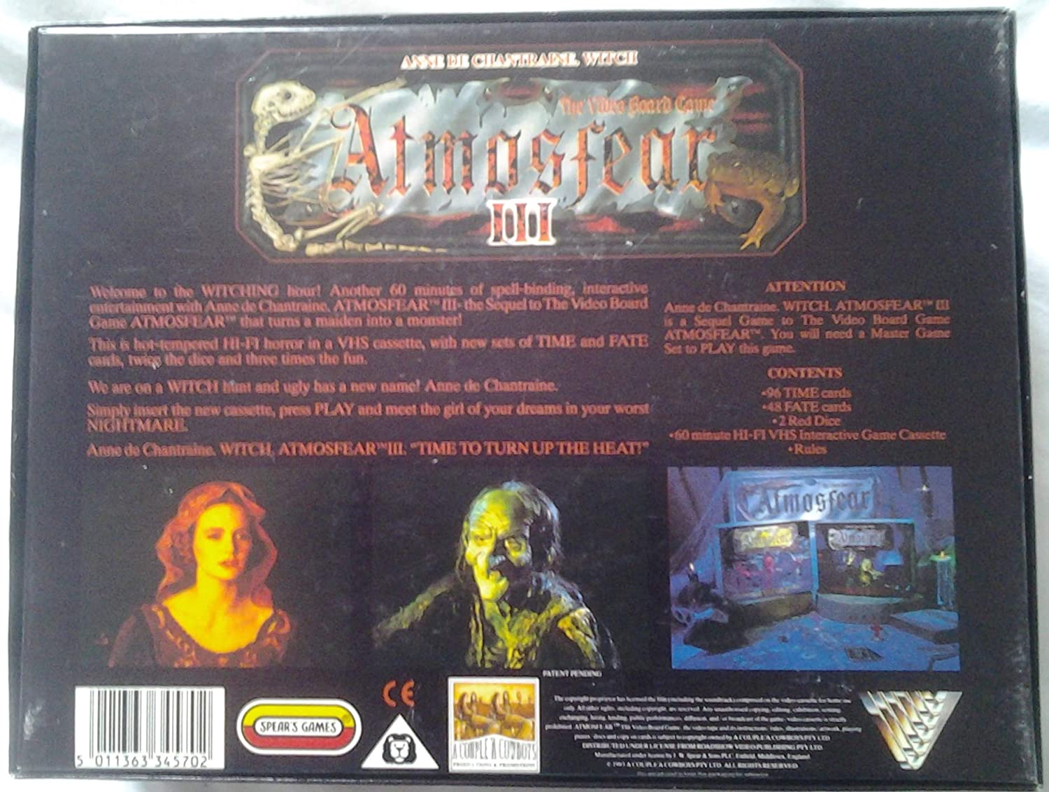 Atmosfear III: Anne de Chantraine - Witch. VHS Sequel to Atmosfear ...