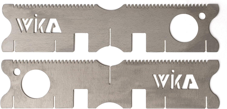 WIKA Topfkreuz FlexHold Flexibler Aufsatz f/ür Trangia Esbit Kocher Spiritusbrenner als Topfhalter f/ür den FlexFire Kreuzst/änder leicht und mobil Edelstahl V4A Premium 100/% Made in Germany