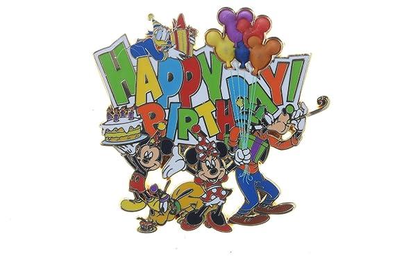 cf8b463115c2b Amazon.com  Disney Happy Birthday - Mickey and Friends - Fab 5 Pin ...