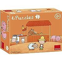 Goula-La Granja de Carla Conjunto de Puzzles, Multicolor (53434)
