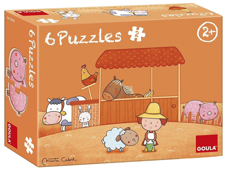 Goula 6 Puzzles de maderas infantiles de la graja D53434 La Granja De Carla