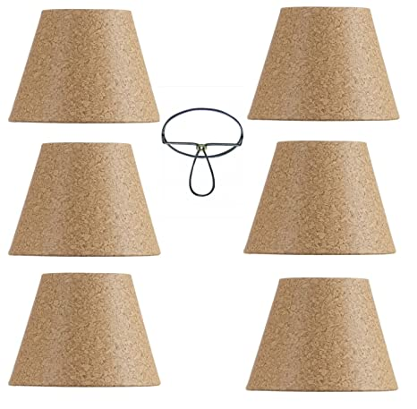 Amazoncom Mini Chandelier Shades Clip On Small Lamp Shade Set Of