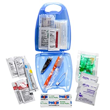Amazon.com: De viaje de emergencia Kit de higiene azul Funda ...